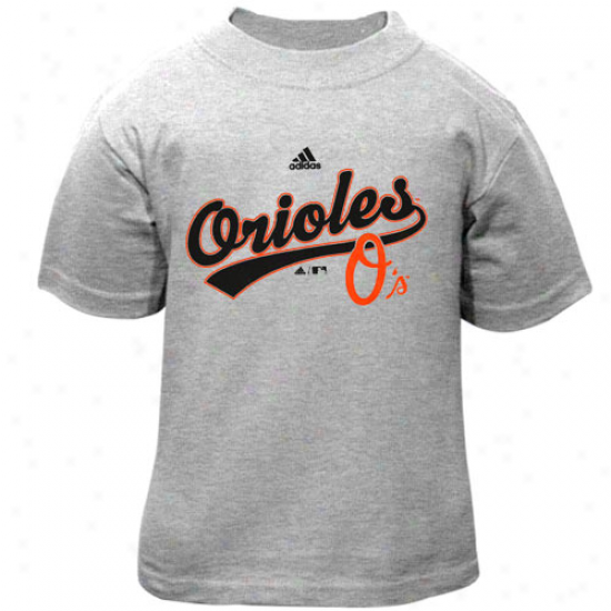 Adidas Baltimore Orioles Toddler Ash Script T-shirt