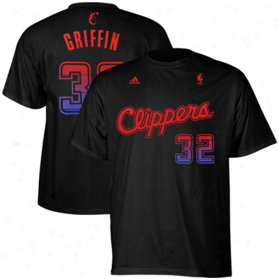 Adidas Blake Griffin Los Anggeles Clippers #3 Vibe Player T-shirt - Black