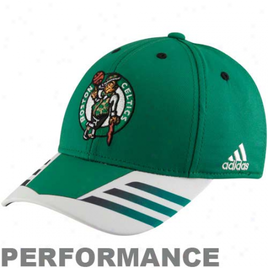 Adidas Boston Celtics Kelly Green Autentic Team Flex Hat