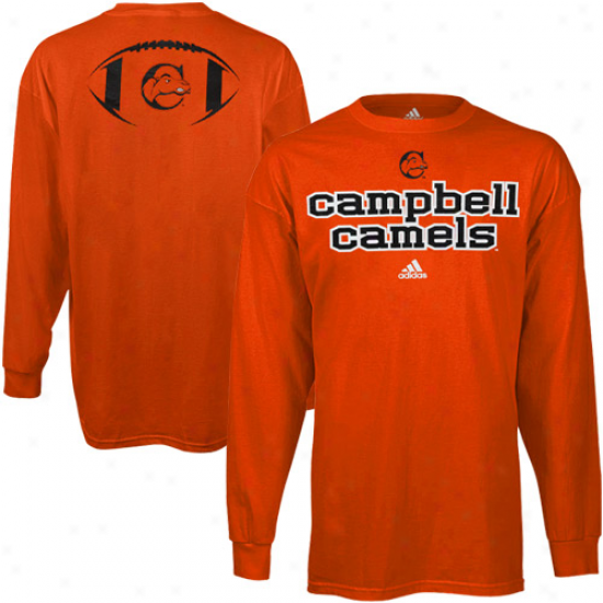 Adidas Campbell Fighting Camels Backfield Long Sleeve T-shirt - Orange