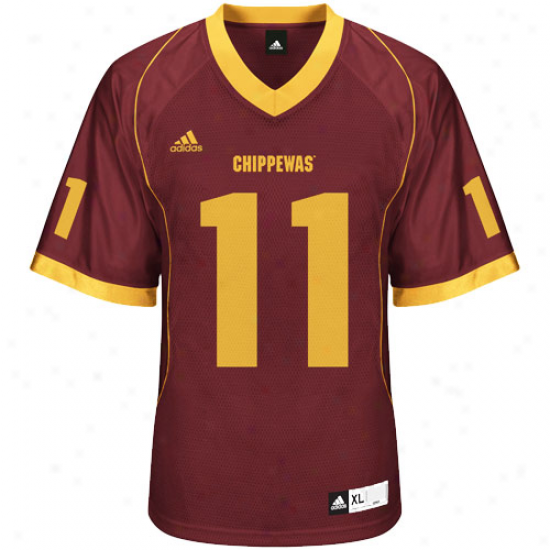 Adidas Central Michigan Chippewas #11 Replica College Jersey - Maroon