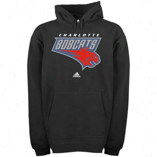 Adidas Charlotte Bobcats Black Elementary Logo Hoody