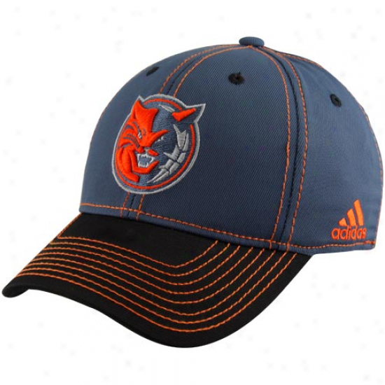 Adidas Charlotte Bobcats Slate Blue Tactel Structured Flex Hat