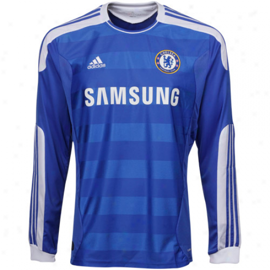 Adidas Chelsea Home Long Sleeve Soccer Jersey 11/12 - Royal Blue