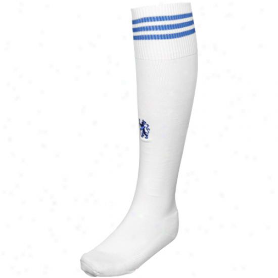 Adidas Chelsea White Club Soccer Socks