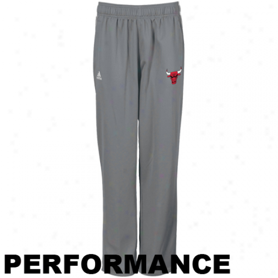 Adidas Chicago Bulls Gray Fusion Performance Warm-up Pants
