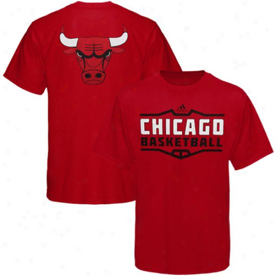 Adidas Chicago Bulls Youth Teeam Perimeter T-shirt - Red