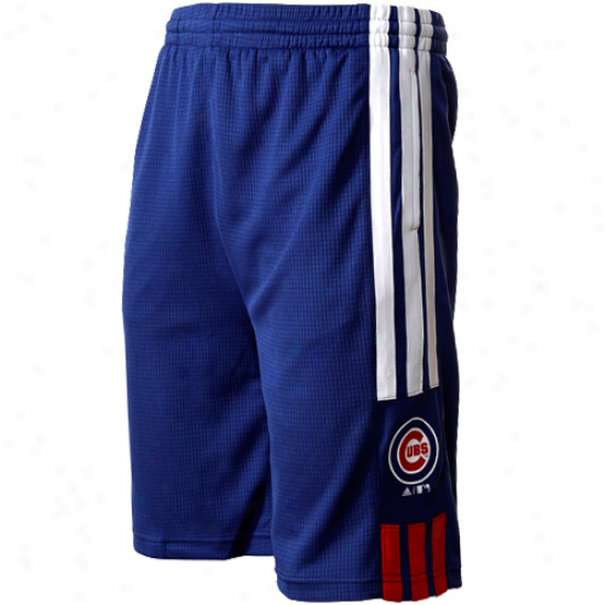Adidas Chicago Cubs Youth Pre-game Shorts - Royal Blue