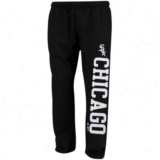 Adidas Chicago White Sox Youth Black Word Plus Fleece Sweatpants