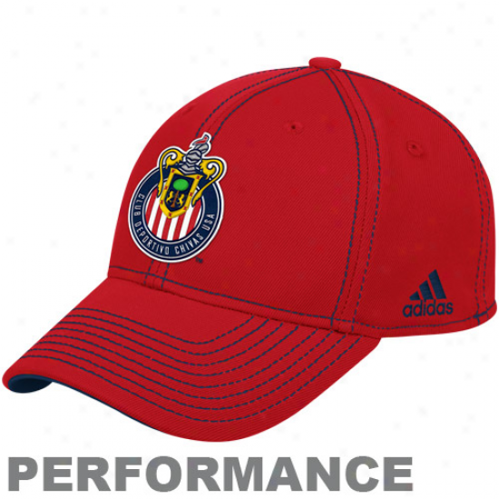 Adidas Chivas Usa Authentic Coach's Flex Hat - Red