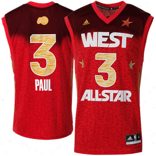 Adidas Chris Paul 2012 West All-star Replica Jerseg - Red
