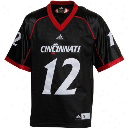 Adidas Cincinnati Bearcats #12 Premier Tackle Twill Football Jersey - Black