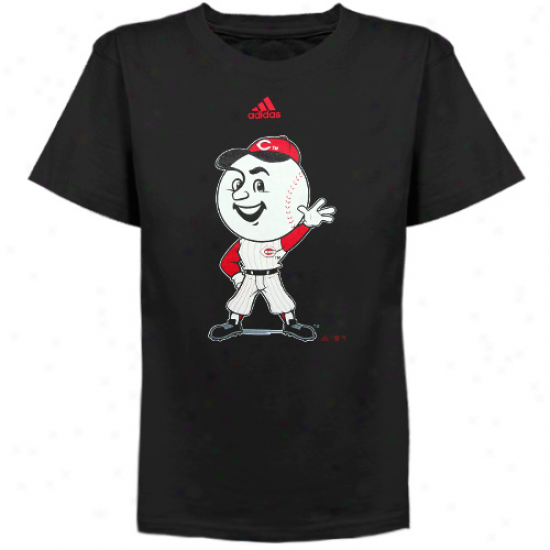 Adidas Cincinnati Reds Preschool Mr. Red Mascot T-shirt - Black