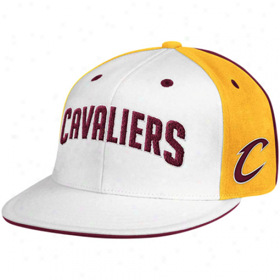 Adidas Cleveland Cavaliers White-wine Cheniole 210 Fitted Hat