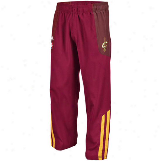 Adidas Cleveland Cavaliers Wine On-court Warm-up Pants
