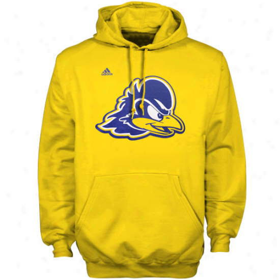 Adidas Delaware Fightin' Blue Hens Gold Second Best Hoodie Sweatshirt