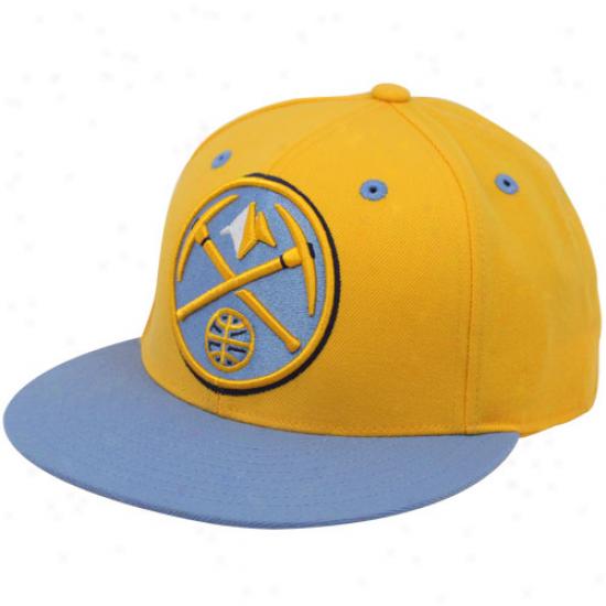 Adidas Denver Nuhgete Gold-light Blue 210 Flat Bill Fitted Hat