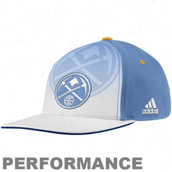 Adifas Denver Nuggets Light Blue-white 2011 Offkcial Draft Appointed time Flex Performance Hat