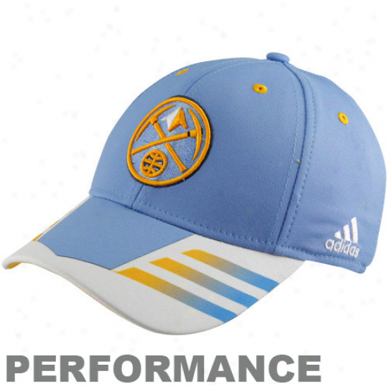 Adidas Denver Nuggets Powder Blue Authentic Team Flex Hat