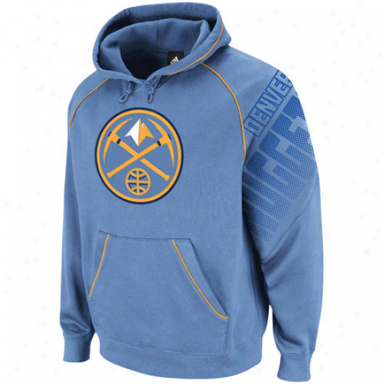 Adidas Denver Nuggets Comminute Blue Hoops Pullover Hoodie Sweatshirt