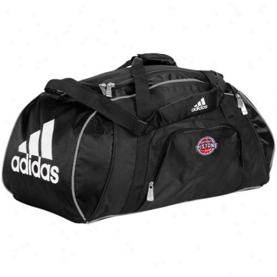 Adidas Detroit Pistons Black Team Logo Gym Duffel Bag