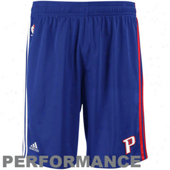 Adidas Detroit Pistons Navy Blue Pre-game Performance Shorts