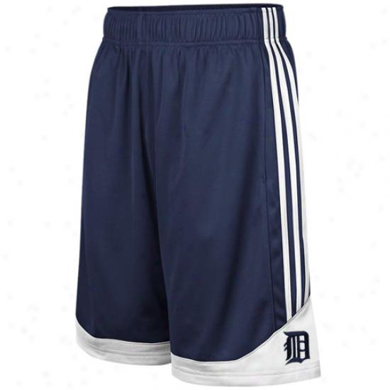 Adidas Detroit Tigers Youth Ships of war Blue Pre-game Mesh Shorts