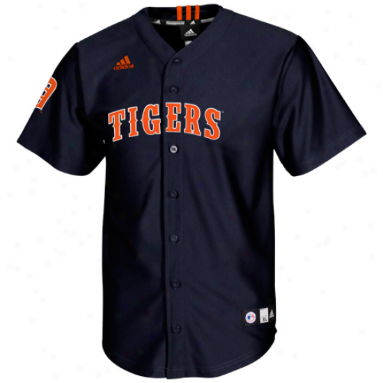 Adidas Detroit Tigers Youth Screen Print Replicw Jersey - Navy Blue