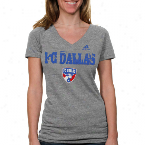Adidas Fc Dallas Women's Glory Logo T-shirt - Ash