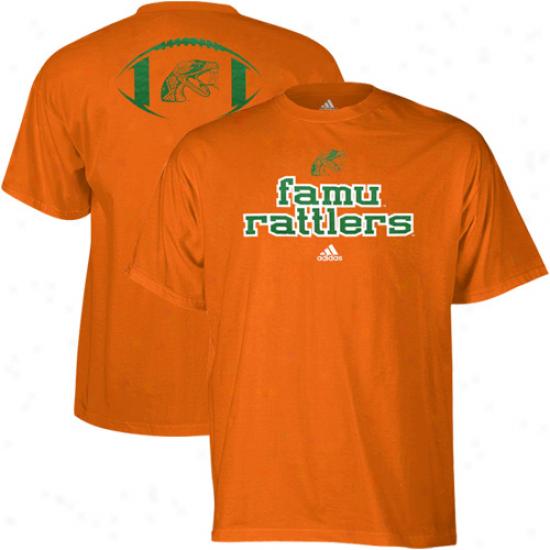 Adidas Florida A&m Rattlers Backfield T-shirt - Orange