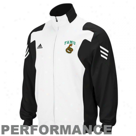 Adidas Florida A&m Rattlers Black-white Scorch Loud Zip Performance Warm-up Jackef