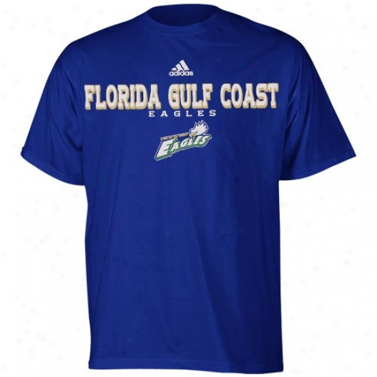 Adidas Florida Gulf Coast Eagles Royal Blue True Basic T-shirt