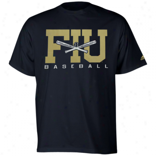 Adidas Florida International Golden Panthers Sport It Baseball T-shirt - Navy Blue