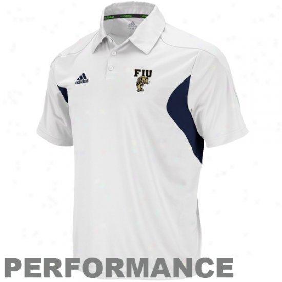 Adida sFlorida International Delightful Panthers White Coaches Sideline Performance Polo