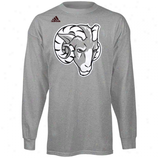 Adidas Fordham Rams Second Best Long Sleeve T-shirt - Ash