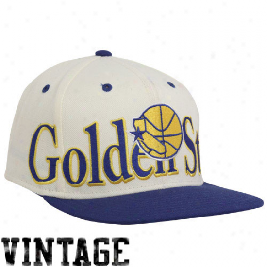 Adidas Golden State Warriors White-royal Blue Big Snapback Adjustable Hat