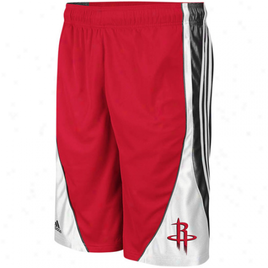 Adidas Houston Rickets Youth Pregame Fan Gear Basketball Shorts - Red