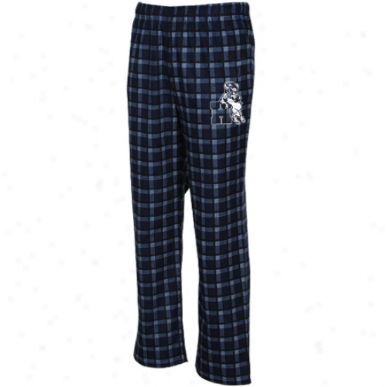 Adidas Howard Bison Navy Blue Tailgate Flannel Pajama Patns