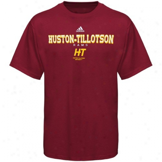 Adidas Husto-tillotson University Rams Maroon True Basic T-shirt
