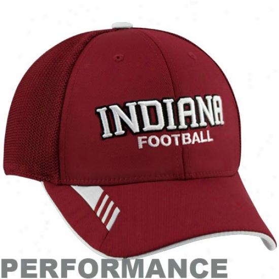 Adidas Indiana Hoosiers Crimson Player Mesh Back Flex Performance Hat