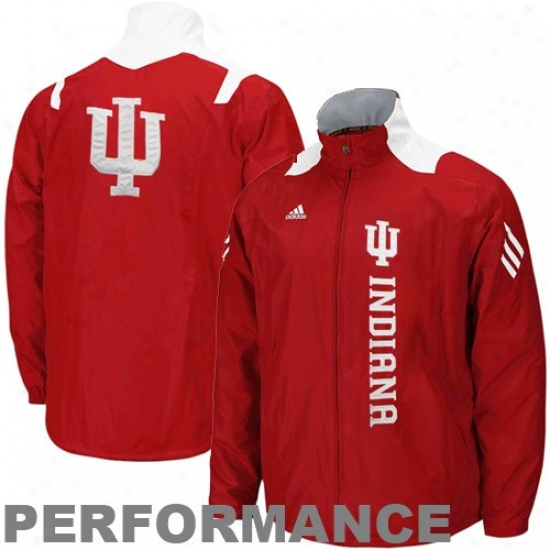 Adidas Indiana Hoosiers Crimson Scorch Midweight Full Zip Perfoemance Jacket
