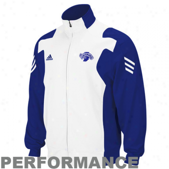 Adidas Indiana State Sycamores Royal Blue-white Scorch Quite Zip Performanve Warm-up Jacket