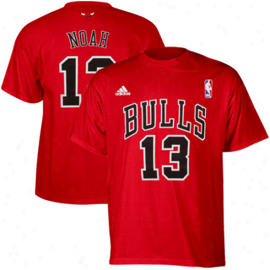 Adidas Joakim Noah Chicago Bulls #13 Youth Player T-shirt - Red