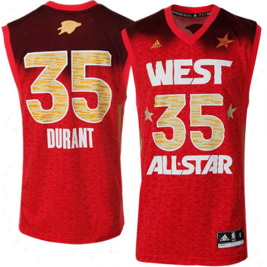 Adidas Kevin Durant 2012 West All-stwr Replica Jersey - Red