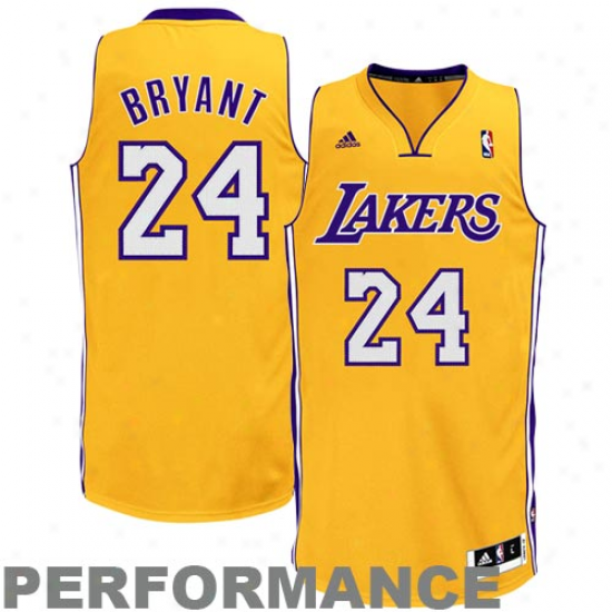 Adidas Kobe Bryant Los Angeles Lakers Youth Revolution 30 Swingman Performance Jersey - Gold