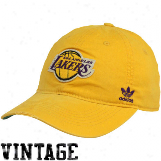 Adidas Los Angeles Lakesr Gold Vintage Flex Hat