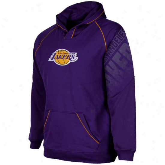 Adidas Los Angelees Lakers Youth Purple Tip Off Pullover Hoodie Sweatshirt