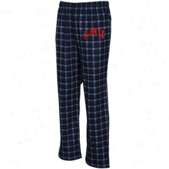 Adidas Loyola Marymount Lions Navy Blue Tailgate Flannel Pajama Pants