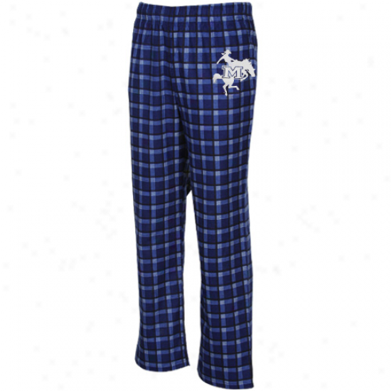 Adidas Mcneese State Cowboys Royal Blue Tailgate Flannel Pajama Pants