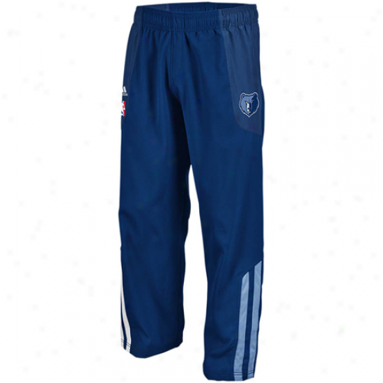 Adidas Memphis Grizzlies Navy Blue On-court Warm-up Pants